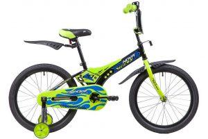 """Велосипед NOVATRACK 20"""" FLIGHTLINE, чёрный, пластиковые короткие крылья"""
