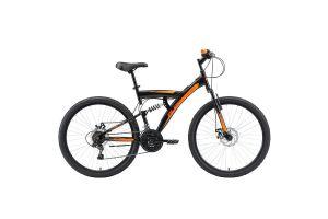 Велосипед Black One Flash FS 26 D черный/оранжевый 2020-2021
