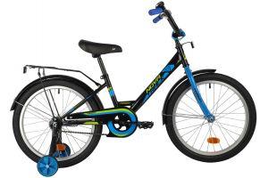 """Велосипед NOVATRACK 20"""" FOREST черный, сталь, тормоз нож, крылья, багажник"""