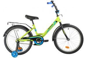 """Велосипед NOVATRACK 20"""" FOREST зеленый, сталь, тормоз нож, крылья, багажник"""