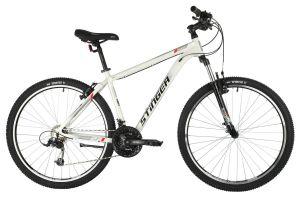 "Велосипед STINGER 27.5"" ELEMENT STD белый, алюминий, размер 20"", MICROSHIFT"